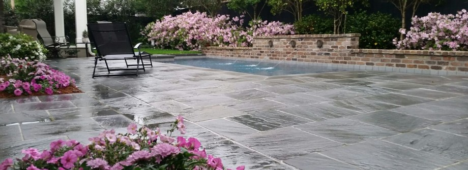 custom flagstone surround pool