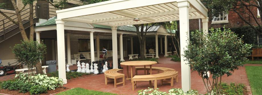 meditation garden pergola