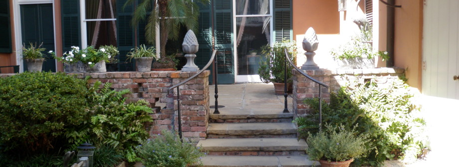 flagstone courtyard New Orleans